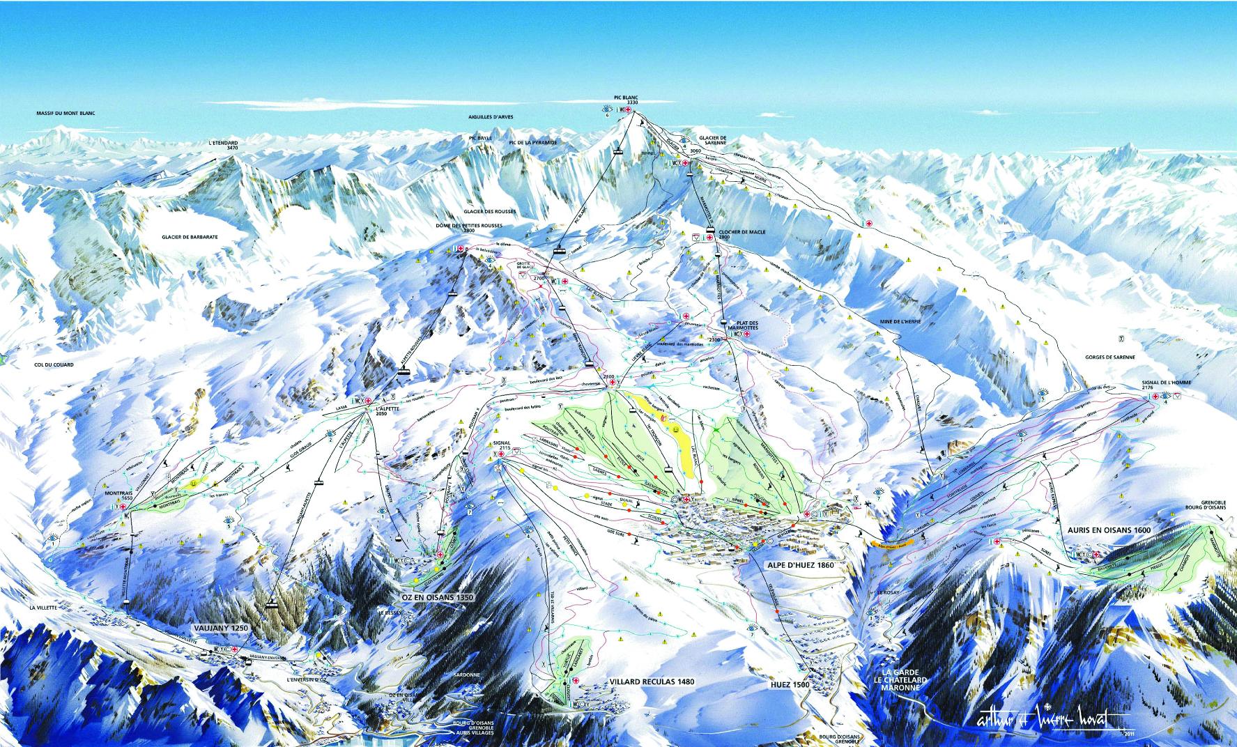 Alpe d'Huez Piste Map 2012