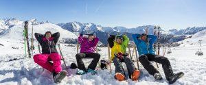 Alpe D'Huez Skiers