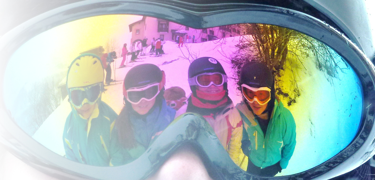 reflection in ski goggles