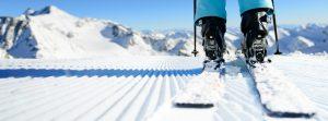 Ski Point of view of mountains