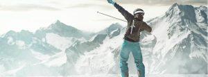 Skier on mountain top